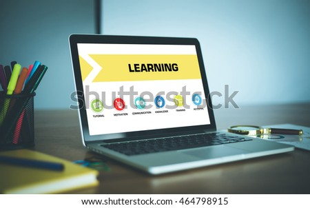 Learning Concept on Laptop Screen