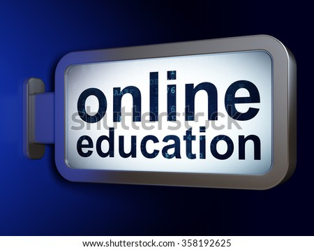 Learning concept: Online Education on billboard background - stock photo
