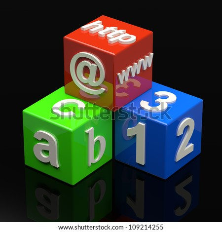 Learning Cubes - stock photo