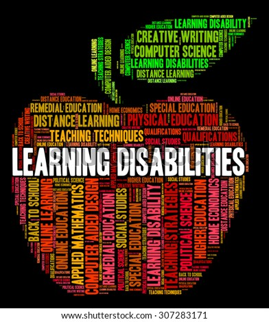 Learning Disabilities Words Indicating Special Education And Learned - stock photo