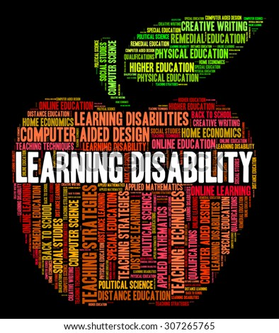 Learning Disability Words Showing Special Needs And Gifted - stock photo