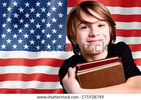 learning english language in USA - stock photo