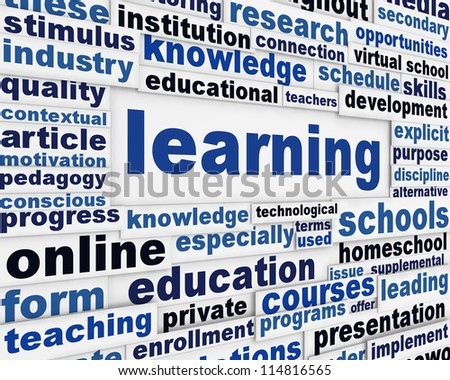 Learning poster concept. Education message conceptual design - stock photo
