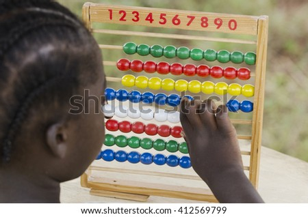 Learning to Count (Hope for Africa) - stock photo