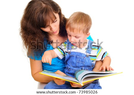 Learningn hot to read - stock photo