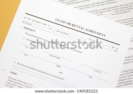 Lease agreement - stock photo