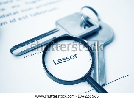 Lease Agreement For Lessor Signing,For Real Estate Concept Background - stock photo