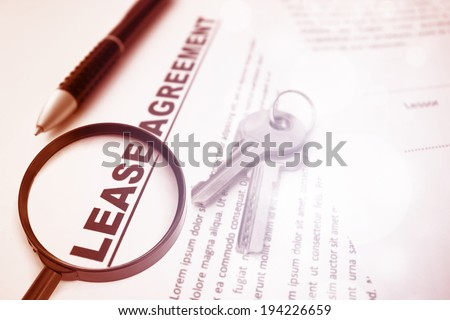 Lease Agreement,For Real Estate Concept Background - stock photo