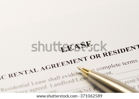 Lease contract - stock photo