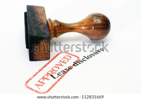 Lease disclosure - stock photo