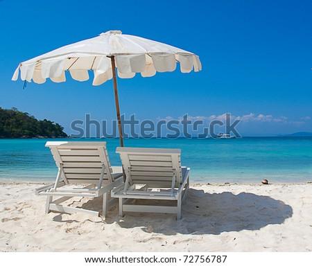 Leasure at the beach - stock photo