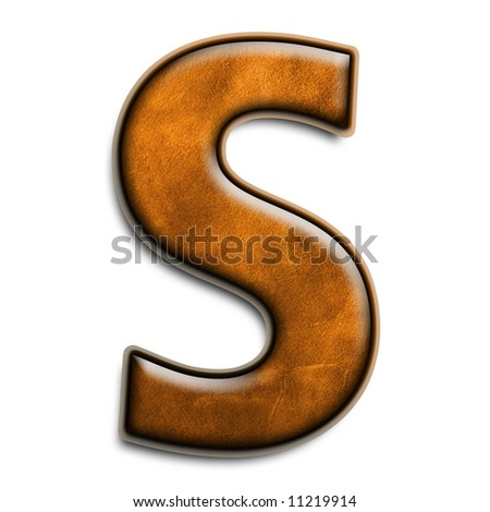 Leather Alphabet 3D Letter S