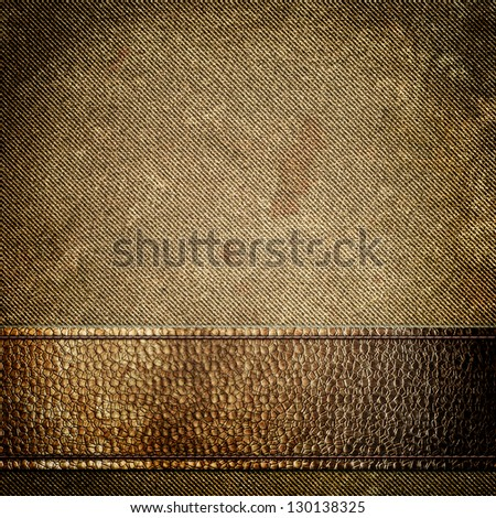 Leather and fabric background - stock photo