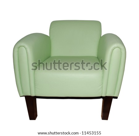 Leather Armchair Isolated On White Background