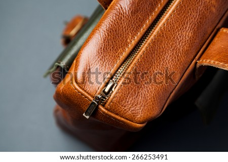 Leather bag background - stock photo
