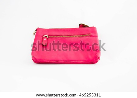 Leather bag,Bag women on white background,Fashion design
