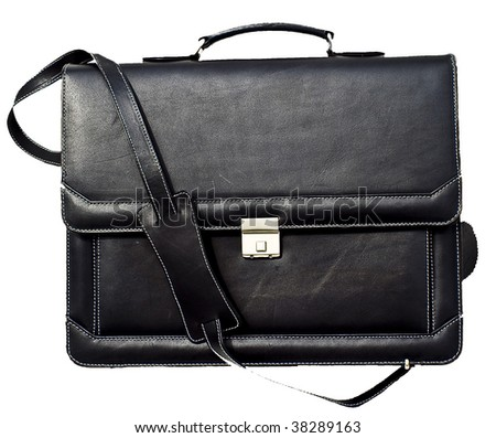 Leather bag corporate - black