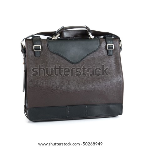 leather bag isolated on a white background