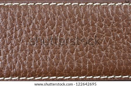 Leather Belt Close up - stock photo
