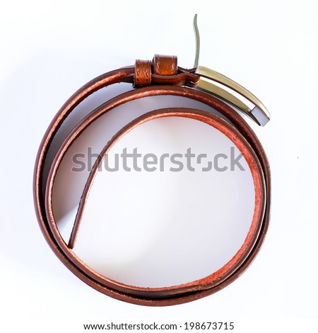 Leather belt for man - stock photo