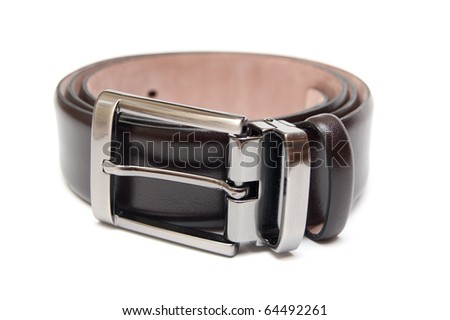 leather belt isolated on white