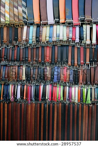 Leather belts galore