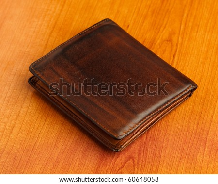 leather billfold - stock photo