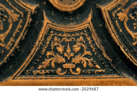 Leather binding of a Bible - stock photo