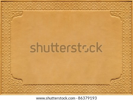 Leather book cover - stock photo