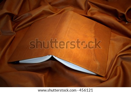 leather book cover - natural - stock photo