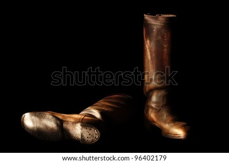 Leather Boots - stock photo
