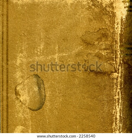 leather bound book - stock photo