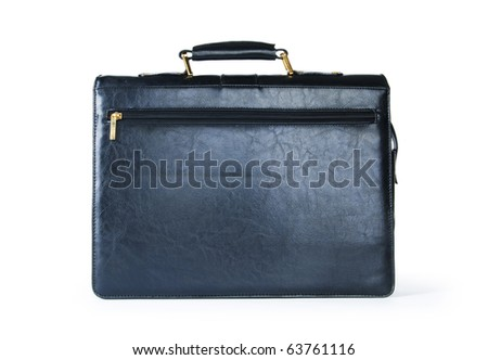 Leather case isolated on the white background
