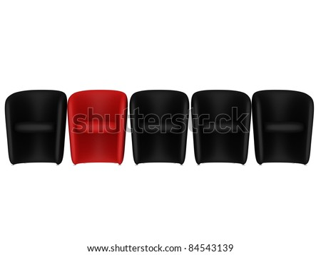 Leather Chairs Isolated on white background