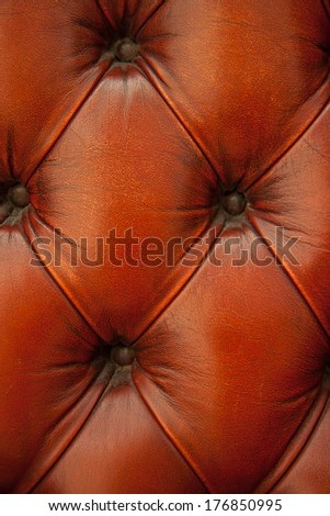 leather chesterfield Burgundy pattern vertical close up - stock photo