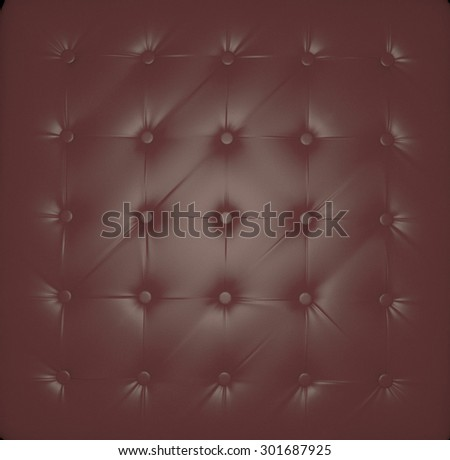 Leather chesterfield decoration, 3d render, square image - stock photo