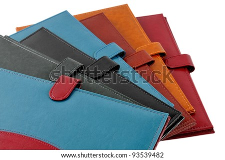 Leather covers isolated on white - stock photo