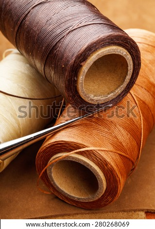 Leather craft tool - stock photo
