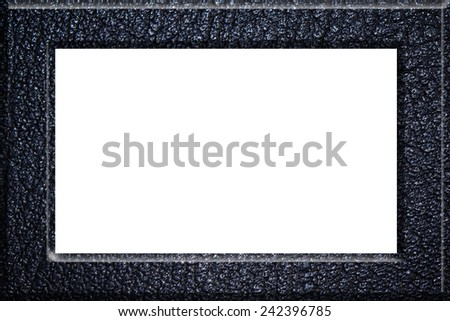 Leather frame isolated on white background