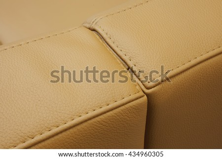 leather furniture detal - stock photo