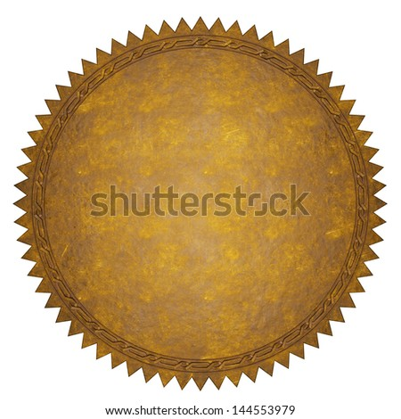 Leather Label - stock photo