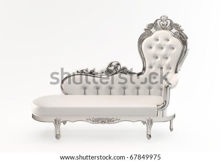 Leather luxurious with royal curve frame isolated white background - stock photo