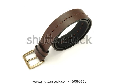 leather man belt isolated at white background