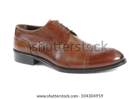 leather man shoe isolated at white background
