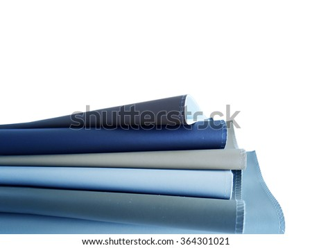 Leather material sample for interior and furniture design on white background
