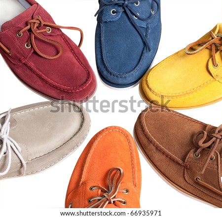 Leather moccasins - stock photo
