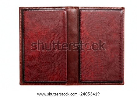Leather notebook - stock photo