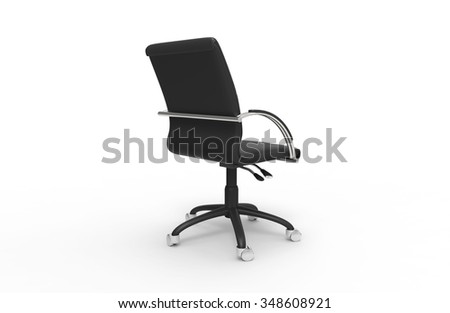 Leather Office Chair 04 - stock photo