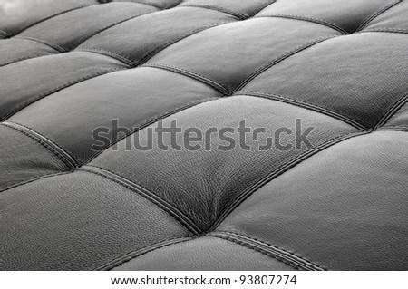 Leather on furniture - sofa - stock photo