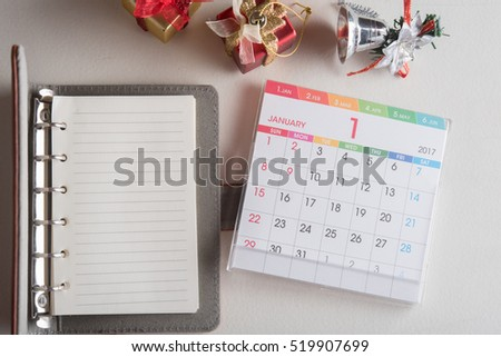 leather organizer book with calendar 2017